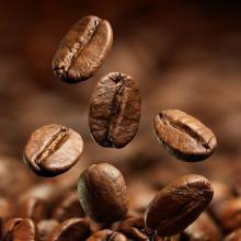 Кава в зернах купаж 50% арабіка (Бразилия Сантос), 50% робуста В'єтнам 1 кг