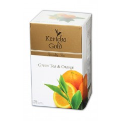 """Kericho Gold """"Чай зелений із апельсином"""", 20 х 2 г"""