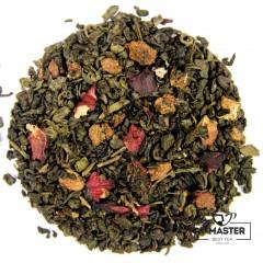 Чай зелений ароматизований Суниця з вершками, 500 г